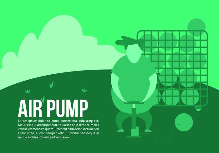 Balle Boy Air Pump Background vecteur