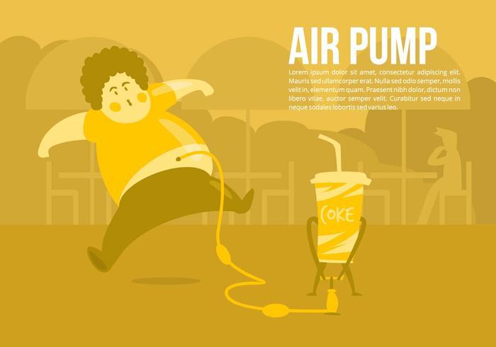 Coke Pump Vector Concept Background