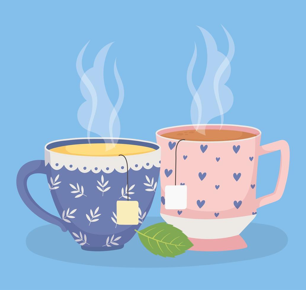 composition de l'heure du thé vecteur