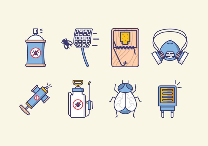Icônes antiparasitaires vecteur