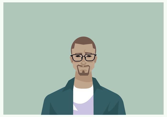 Stylish Man Headshot Vector