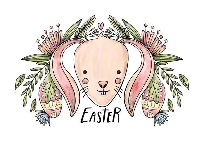Lapin de Pâques vecteur de fond
