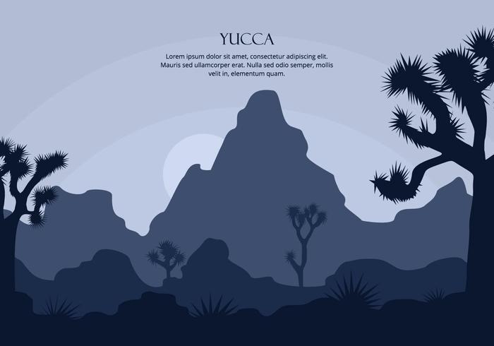 Yucca Contexte vecteur