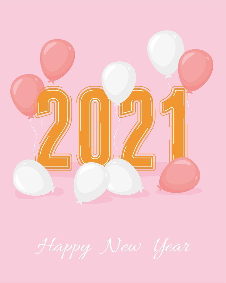 2021, composition de bonne année vecteur
