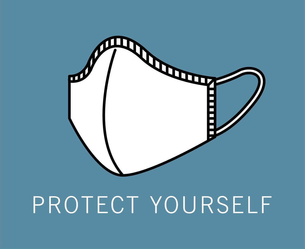 icône d'accessoire de protection de masque médical vecteur