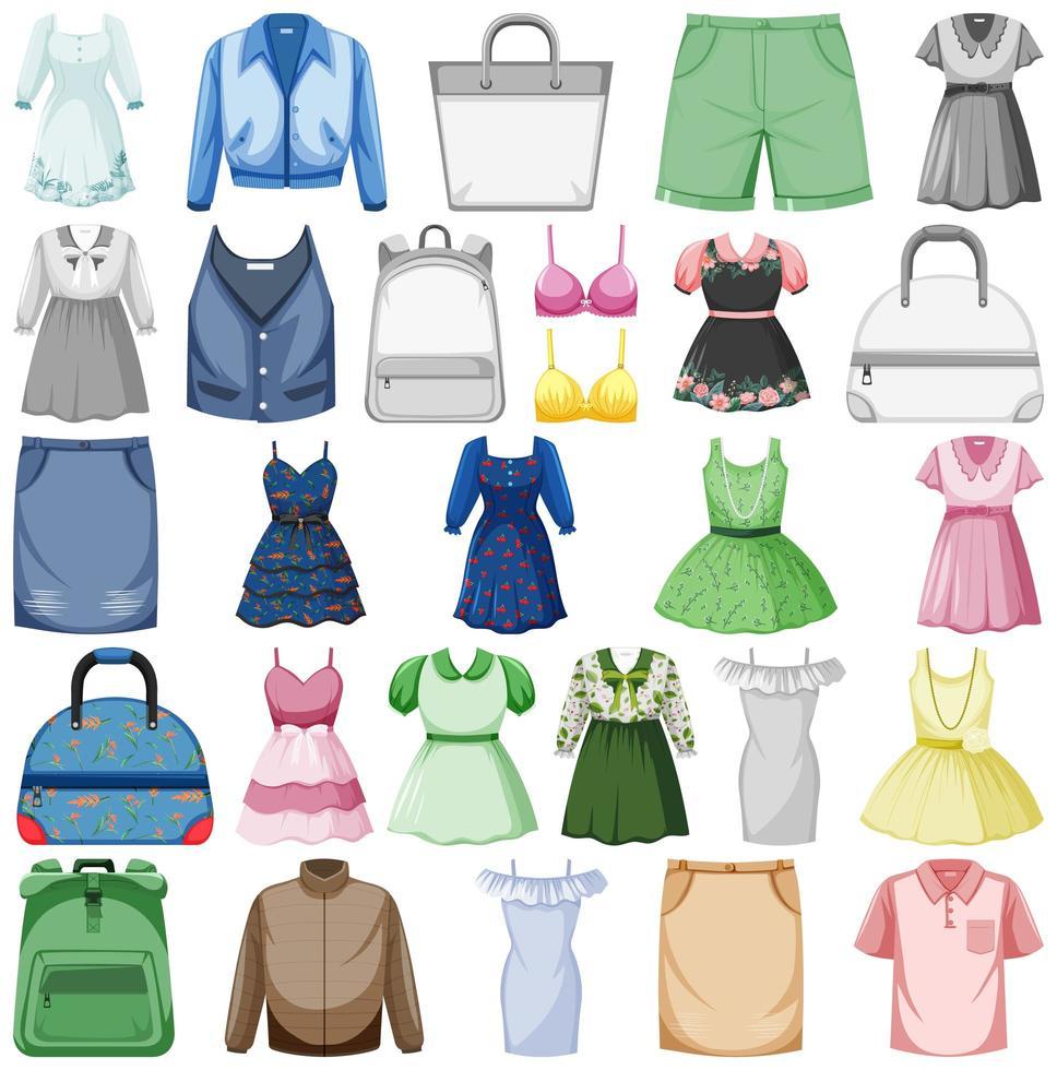 ensemble de tenues de mode vecteur