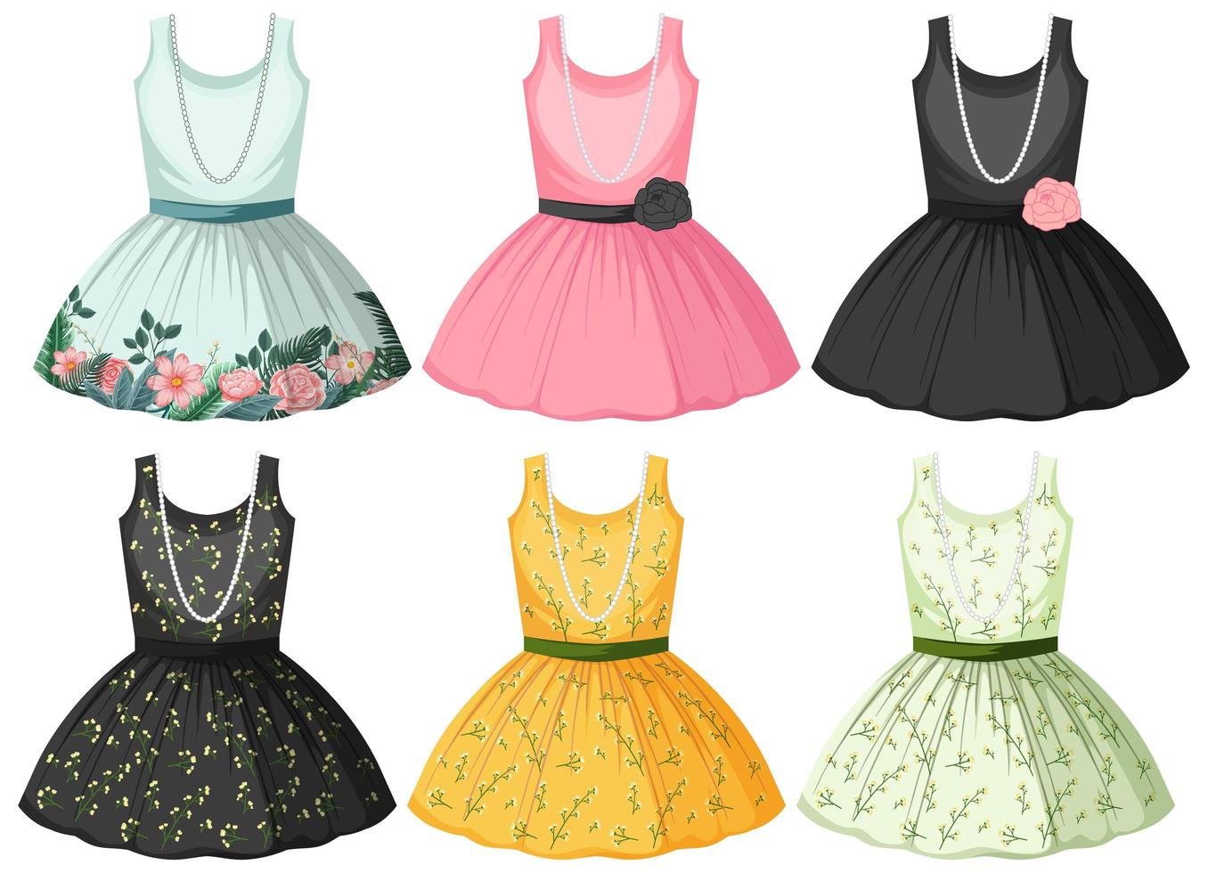 ensemble de maquettes de robe vecteur