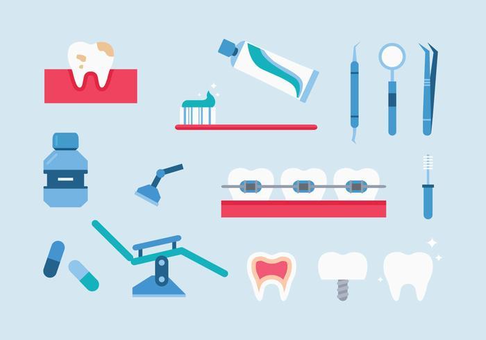 Dentista Icons vecteur