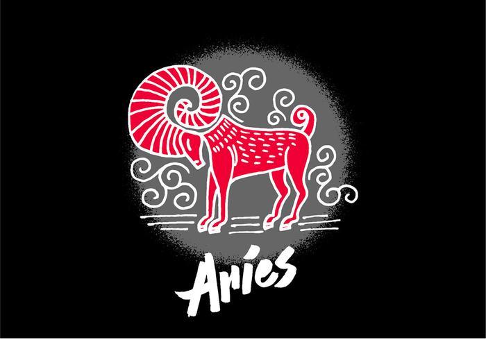 Aries Zodiac Symbole vecteur
