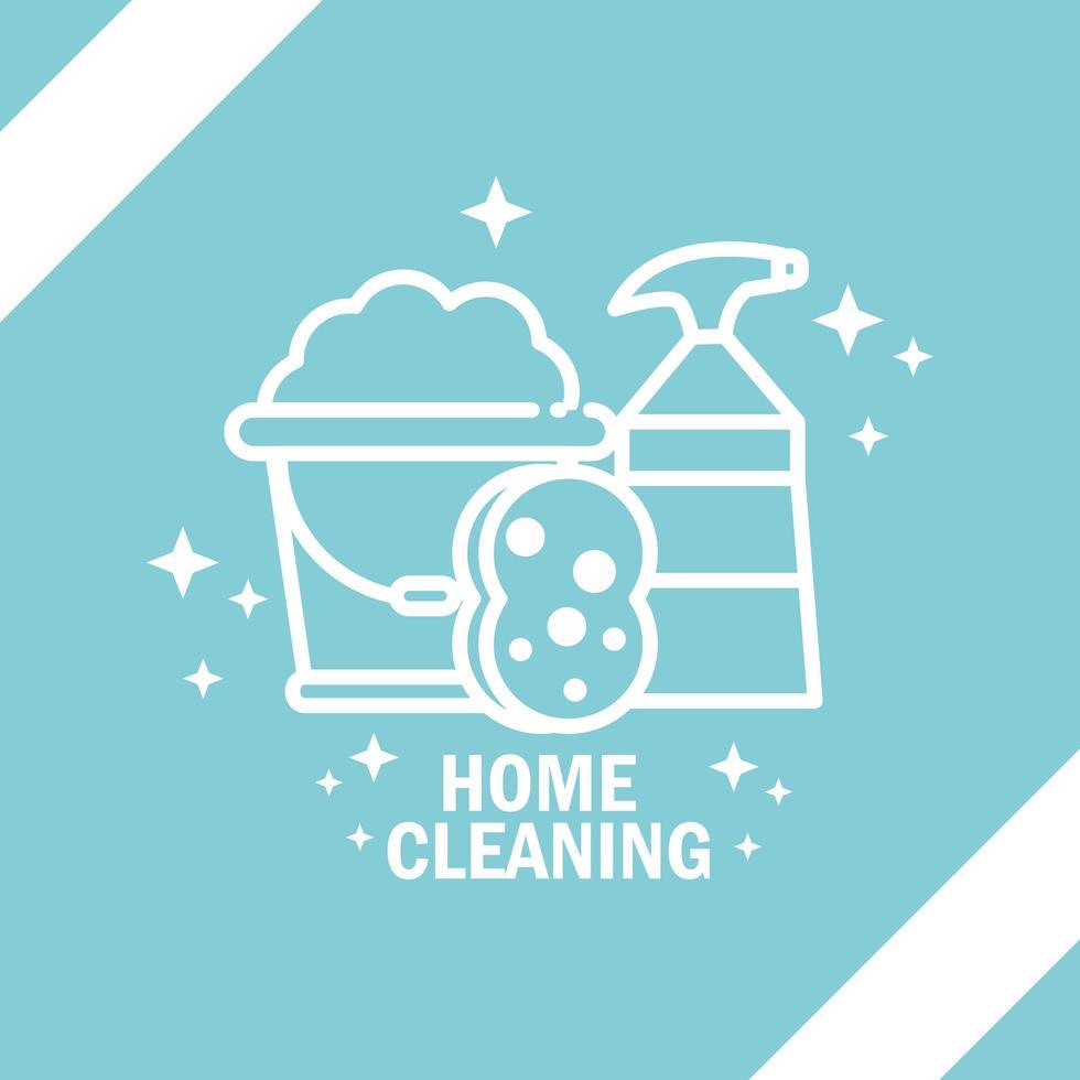 icône de pictogramme de nettoyage à domicile vecteur