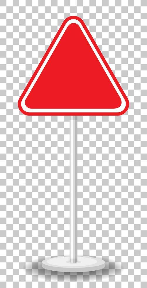 panneau de signalisation rouge vide isolé vecteur