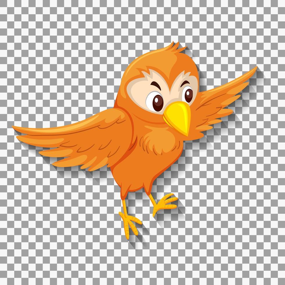 personnage de dessin animé oiseau orange vecteur