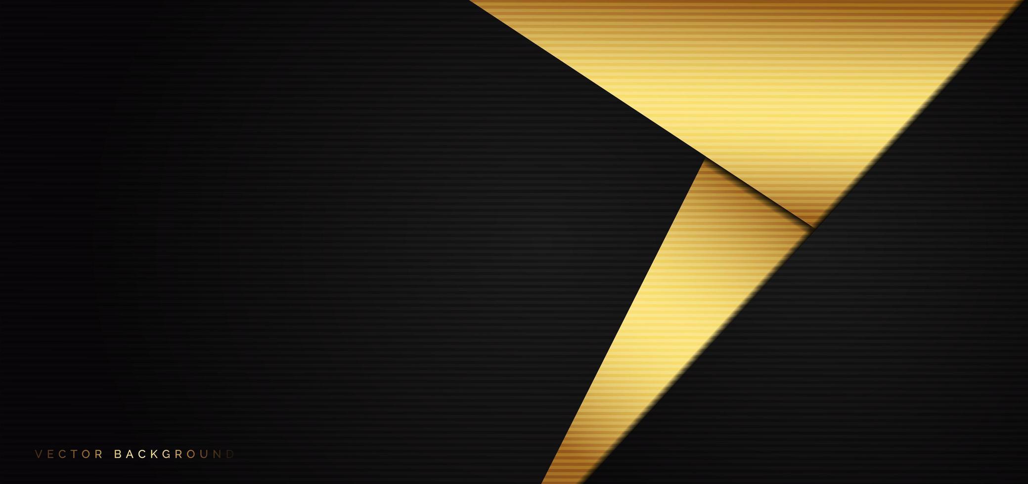 abstrait avec des triangles noirs et or vecteur