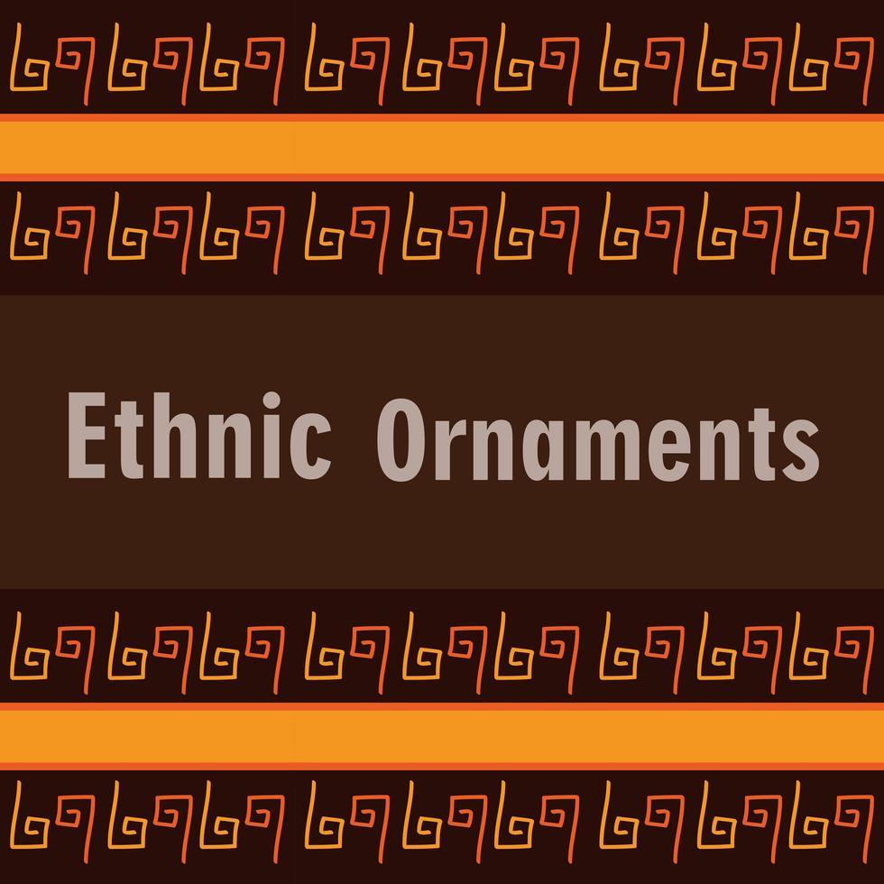 bannière de tuile de fond ornement ethnique vecteur