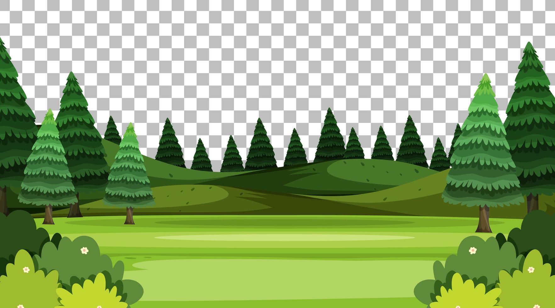 paysage de scène de parc naturel vierge vecteur