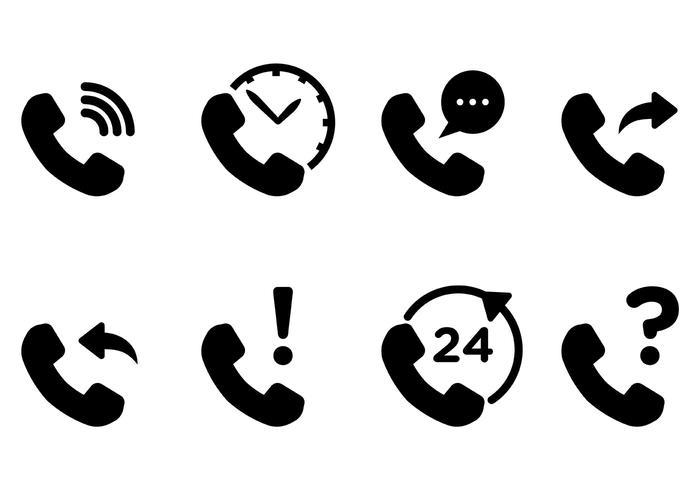 Tél icônes vecteur libre