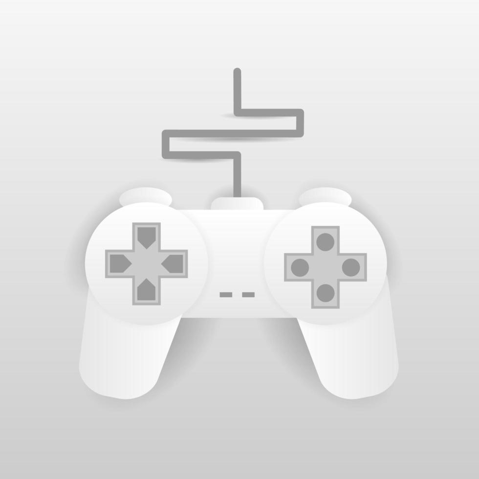 joystick blanc pour la conception de jeux sur console vecteur