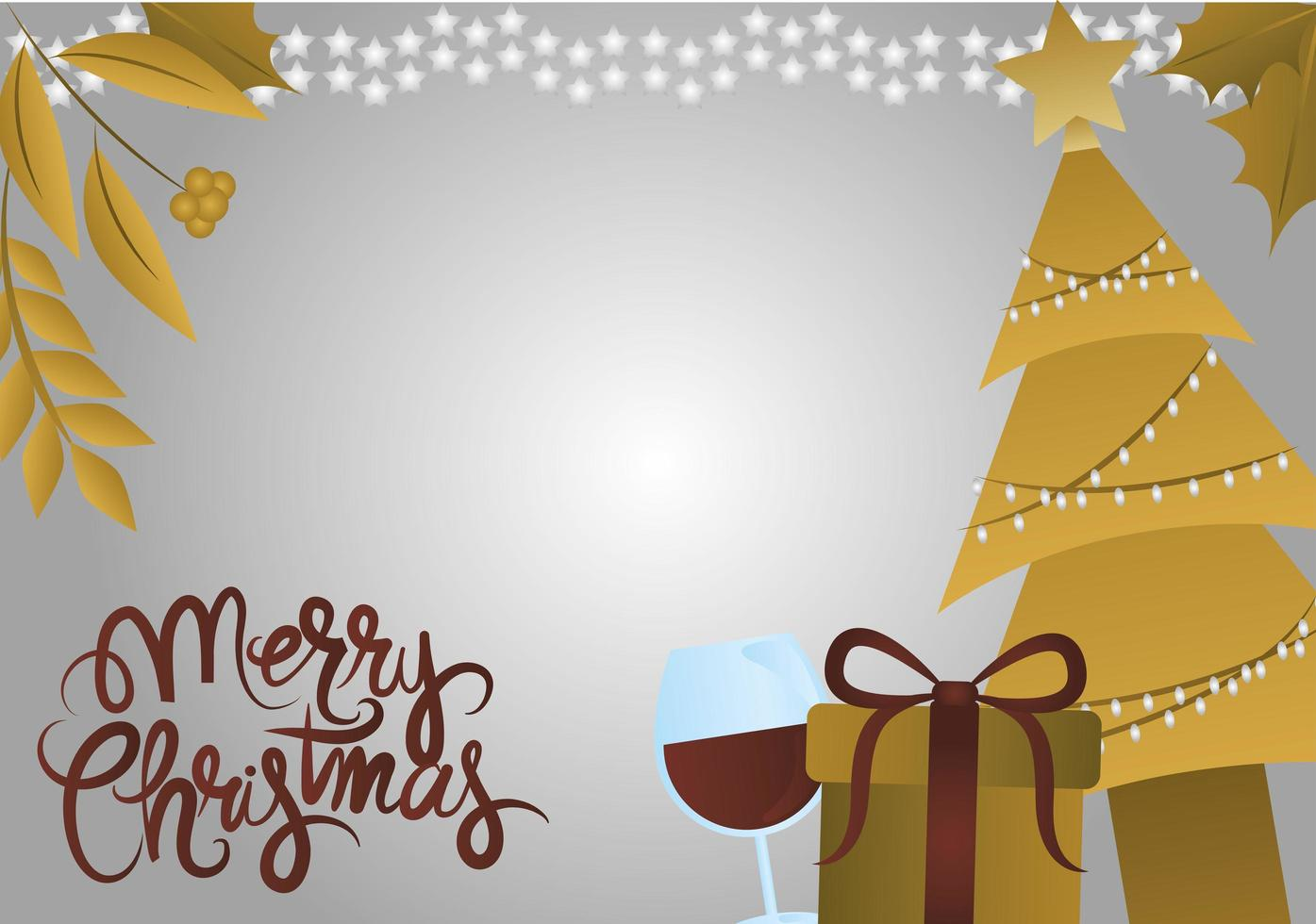 bannière de Noël de luxe ou carte de voeux vecteur