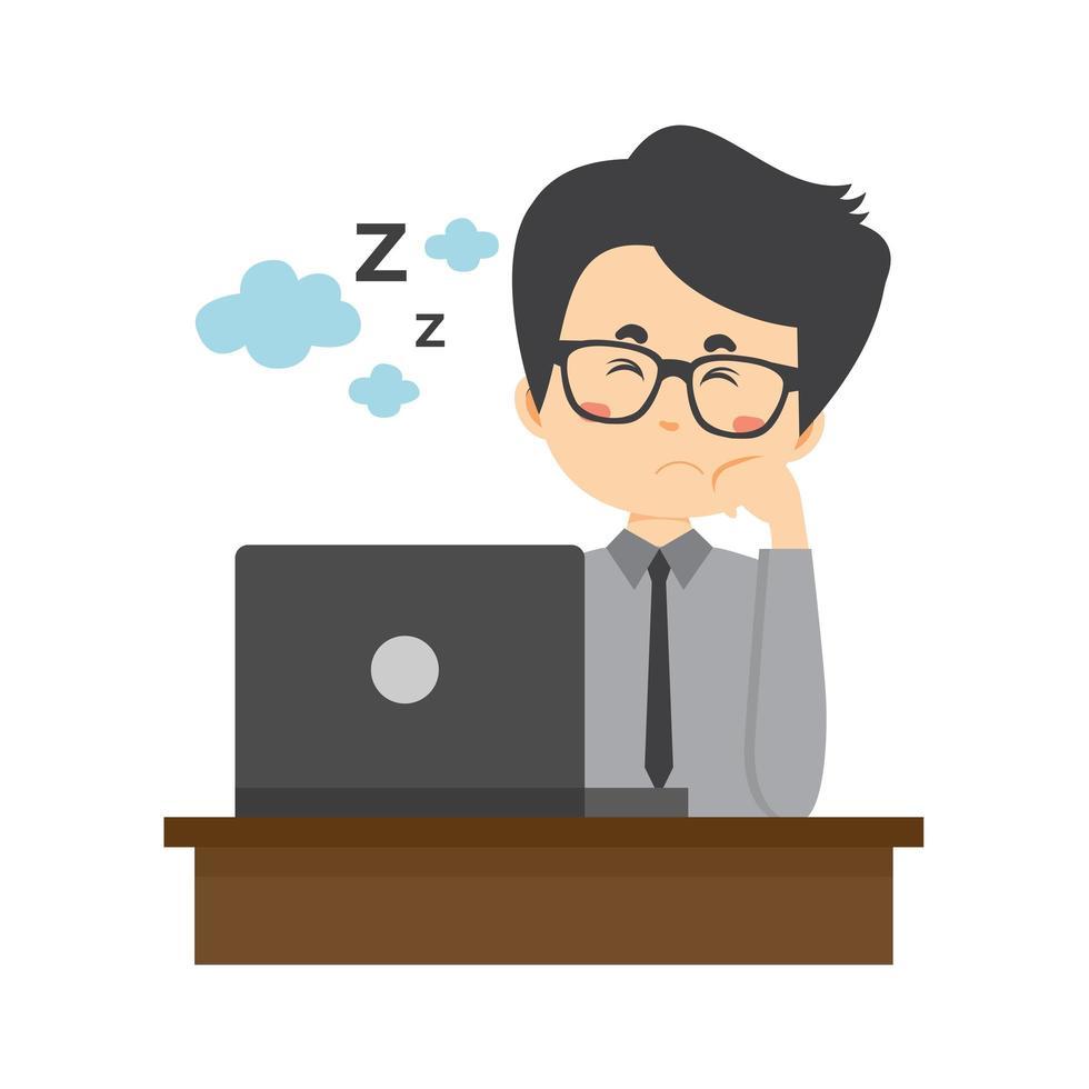 homme d & # 39; affaires dormant sur le temps de travail vecteur