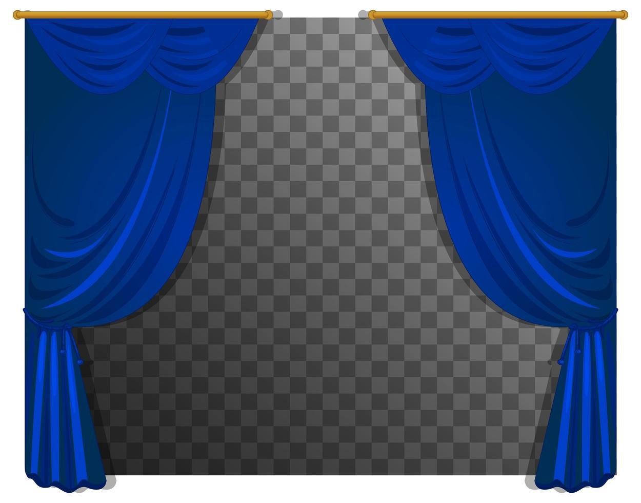 rideaux bleus isolés vecteur