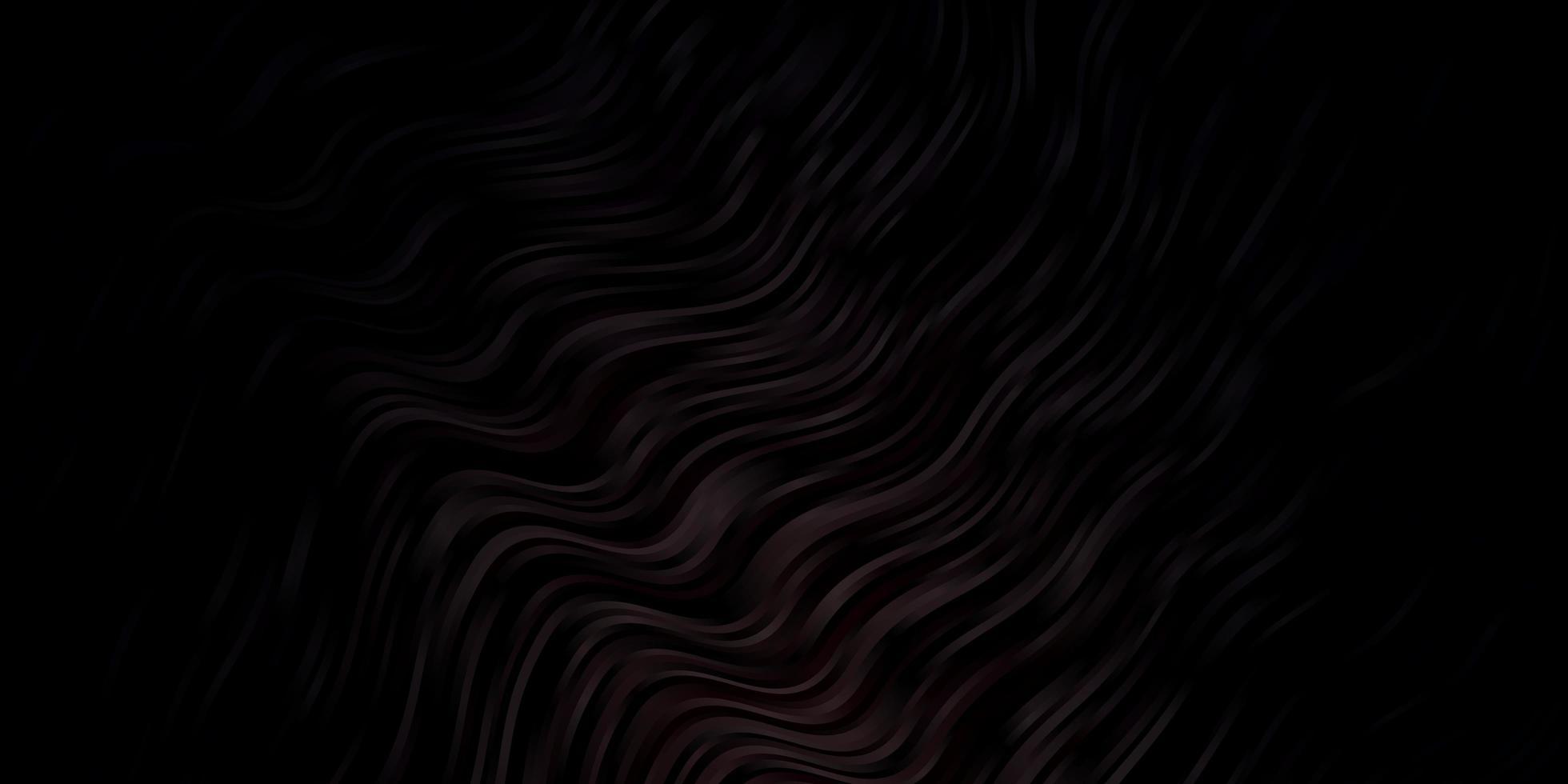 texture de vecteur brun foncé avec des courbes.
