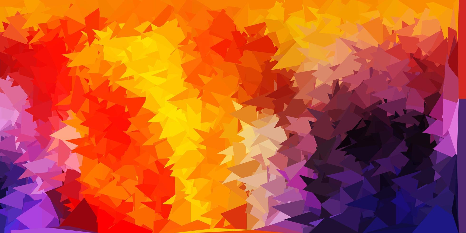 texture de polygone rose, jaune et rouge. vecteur