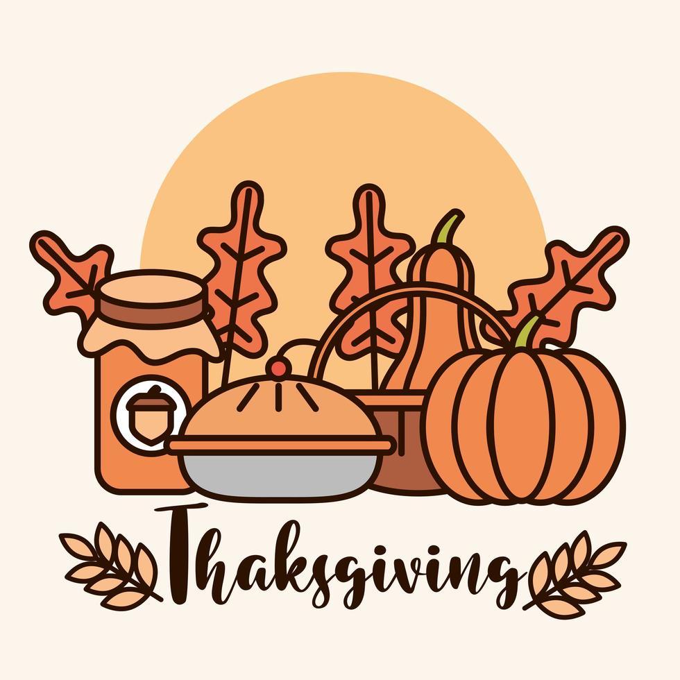 composition de célébration du jour de Thanksgiving vecteur