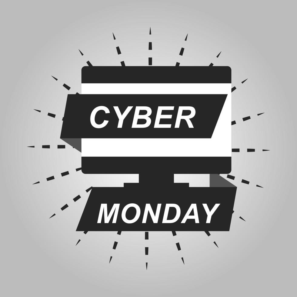 bannière de vente cyber lundi vecteur
