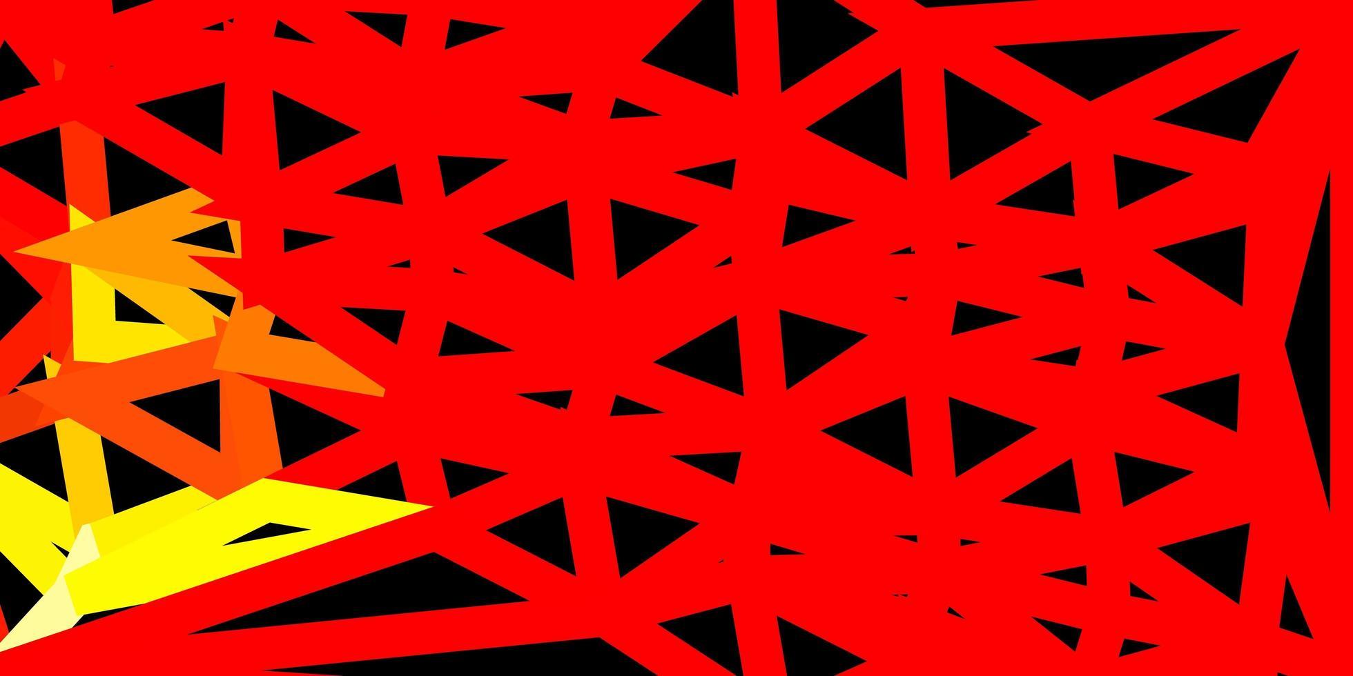 motif de triangle rouge et jaune. vecteur