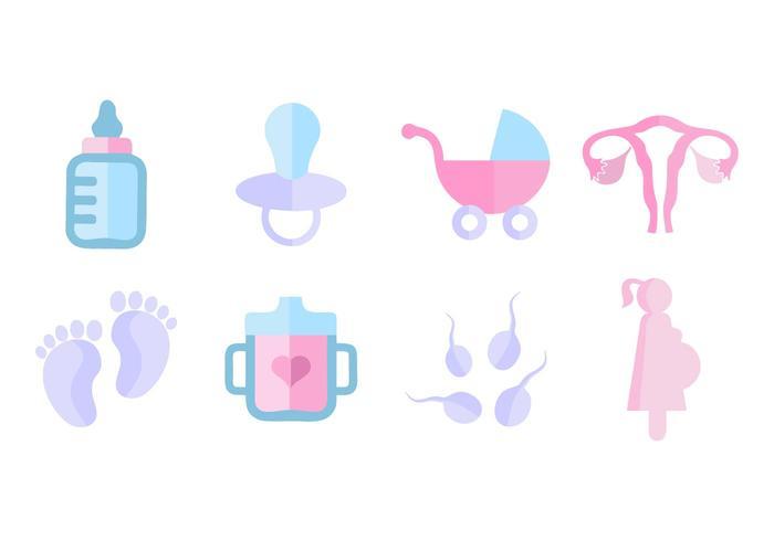 Gratuit maternité Icons Flat style vecteur