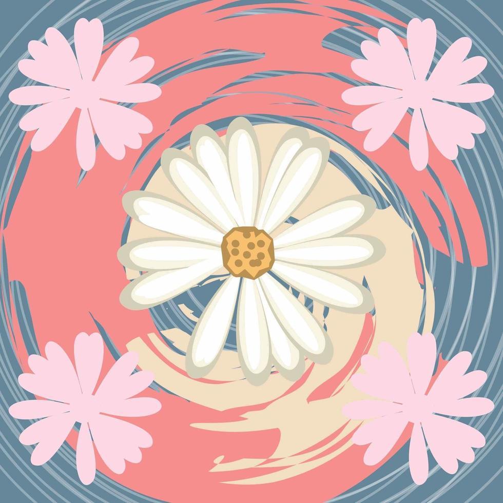 conception de modèle de foulard floral encre abstraite pour salut jab et couverture vecteur