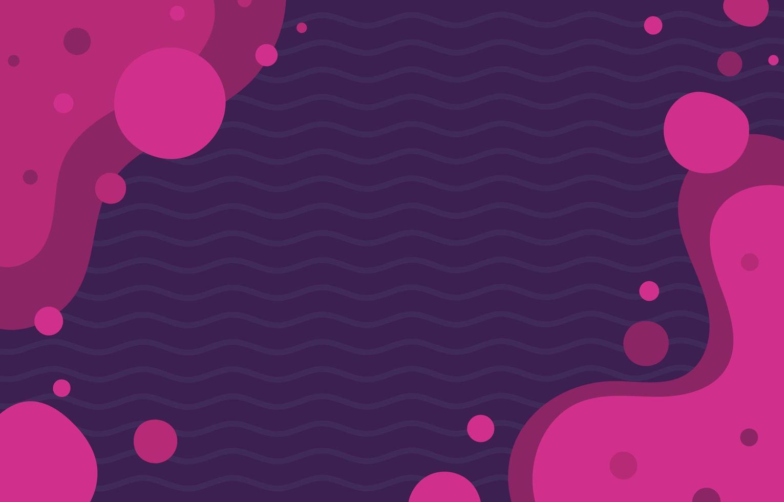 fond plat organique abstrait en violet magenta vecteur