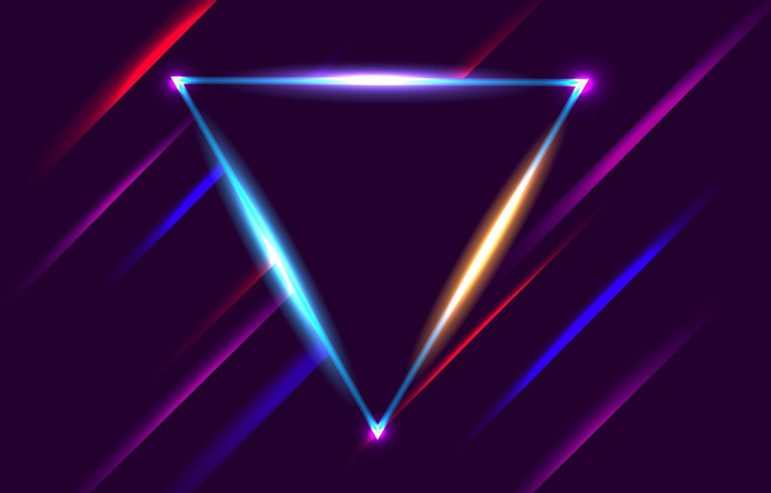 fond de cadre triangle néon vecteur