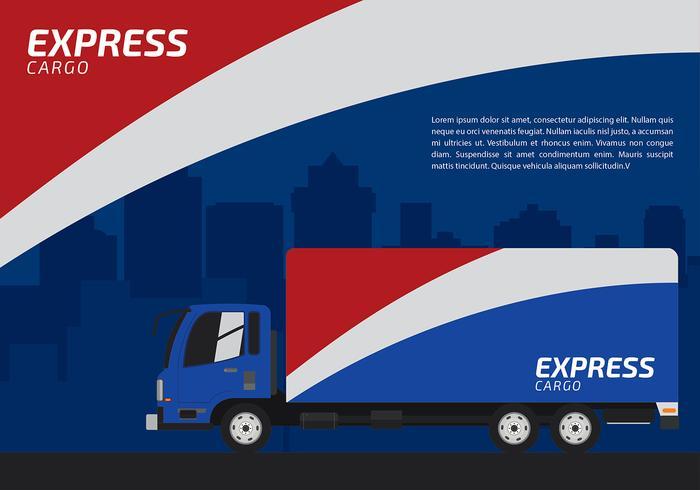 Blanc Rouge et Express Blue Vector gratuit Camion