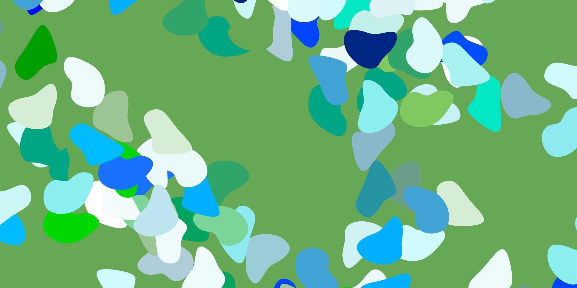 texture de vecteur bleu et vert avec des formes.