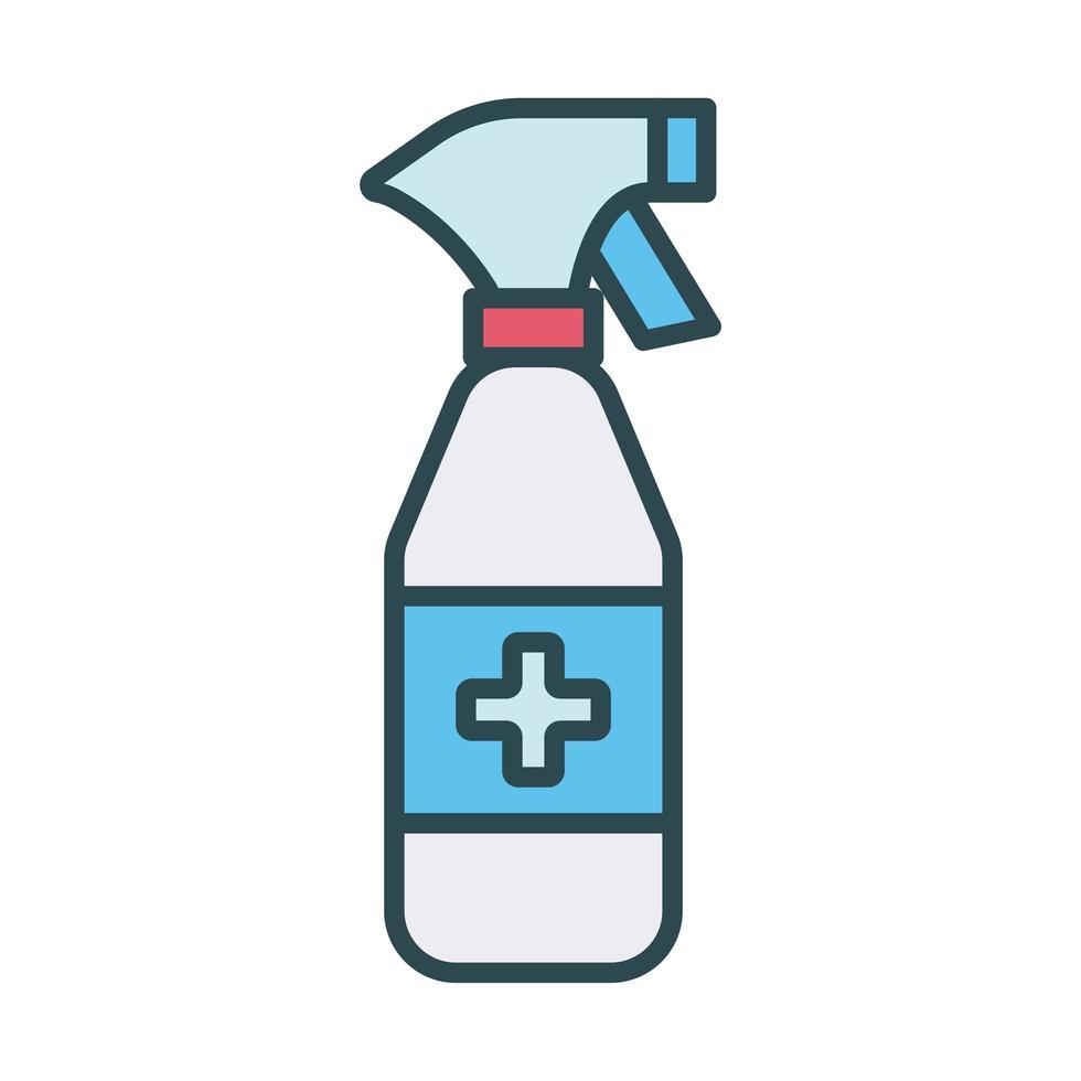 icône de remplissage de bouteille de savon antibactérien vecteur