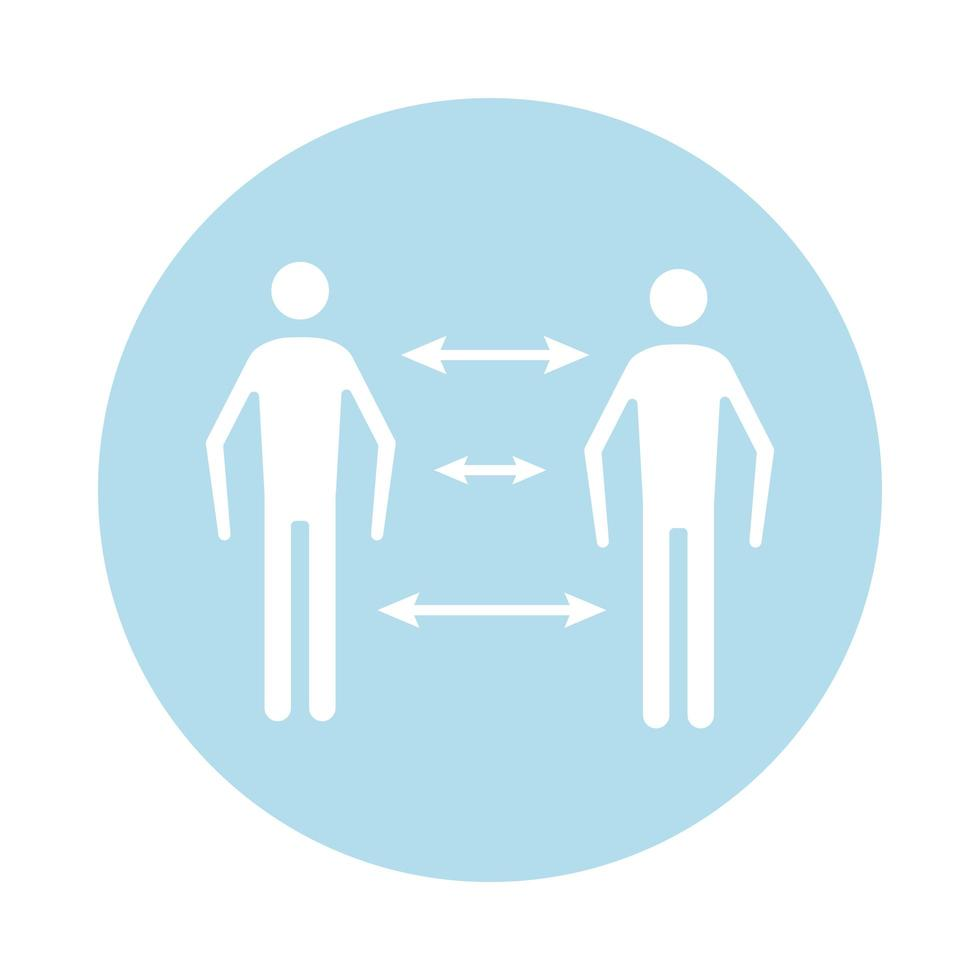 Les figures humaines avec l'icône de style silhouette bloc flèches vecteur
