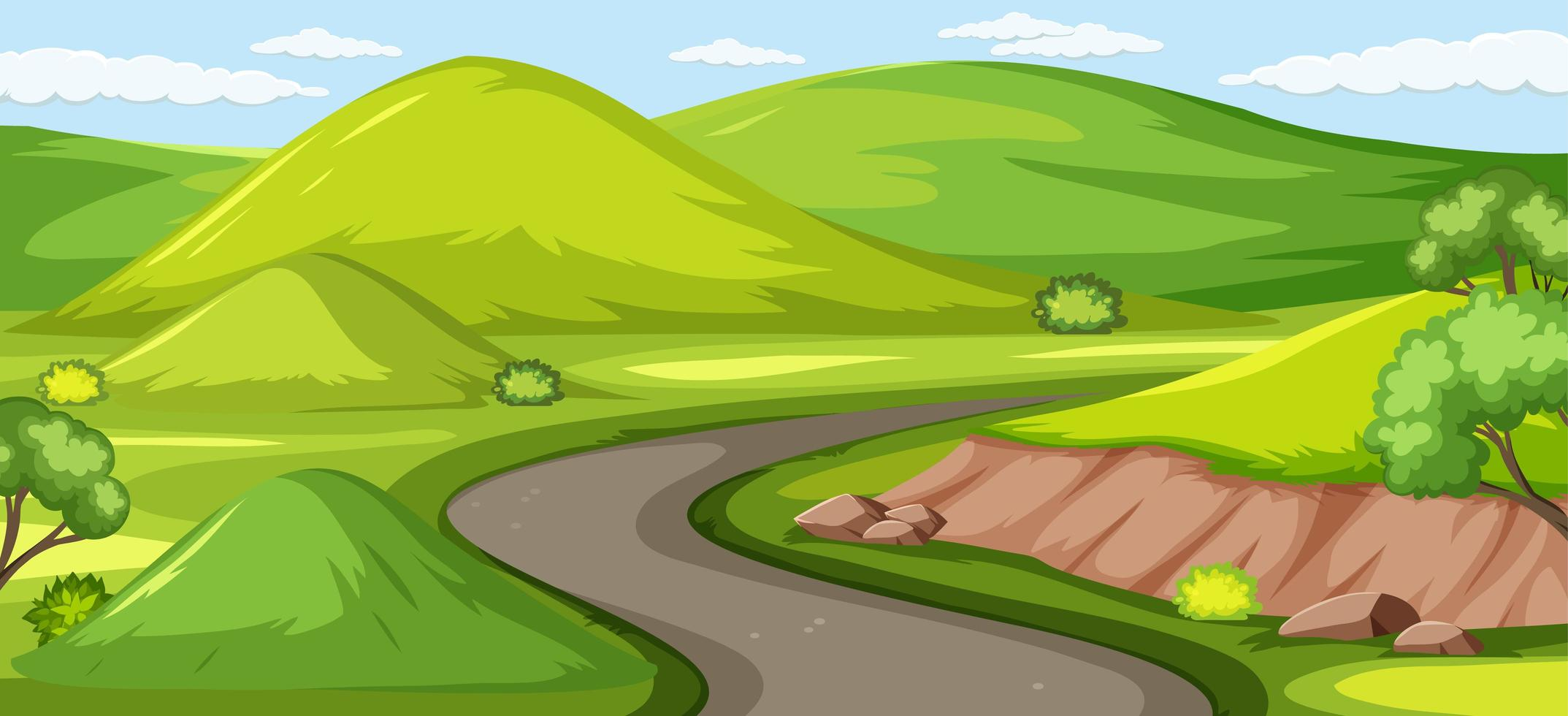 fond de nature verte extérieure vecteur