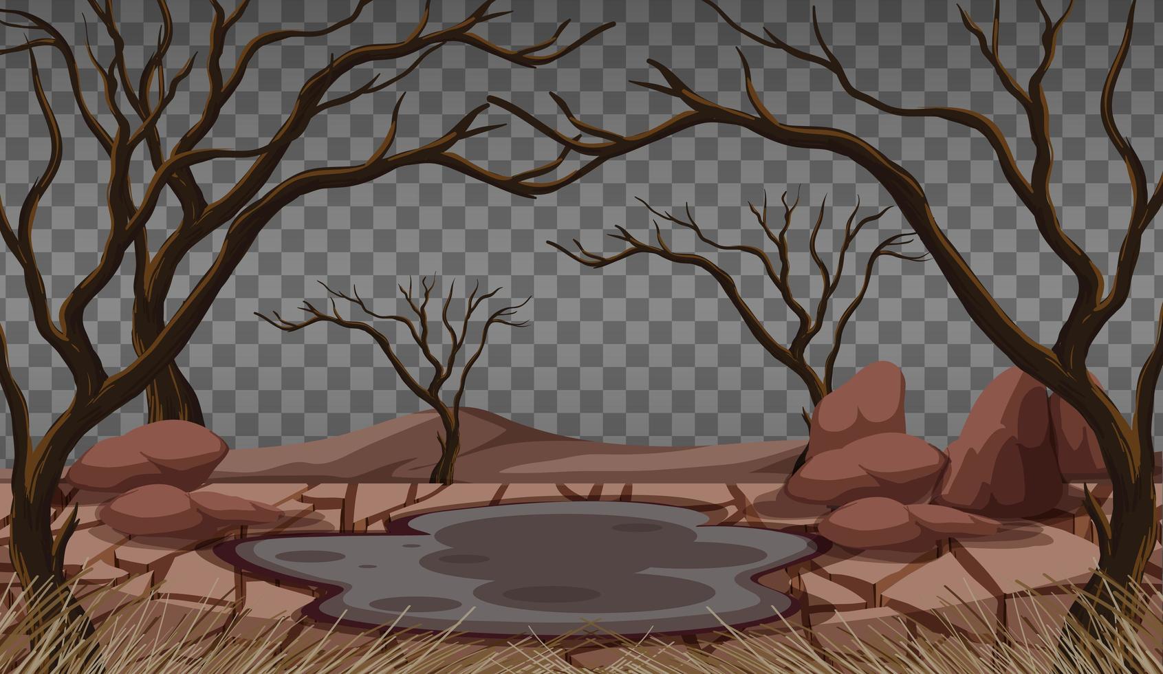 paysage terrestre sec et fissuré vecteur