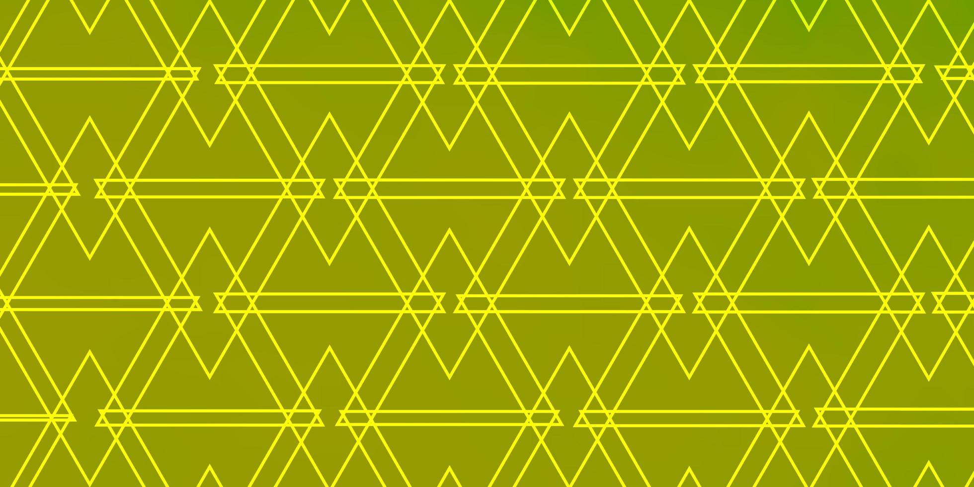 fond vert et jaune avec des triangles. vecteur
