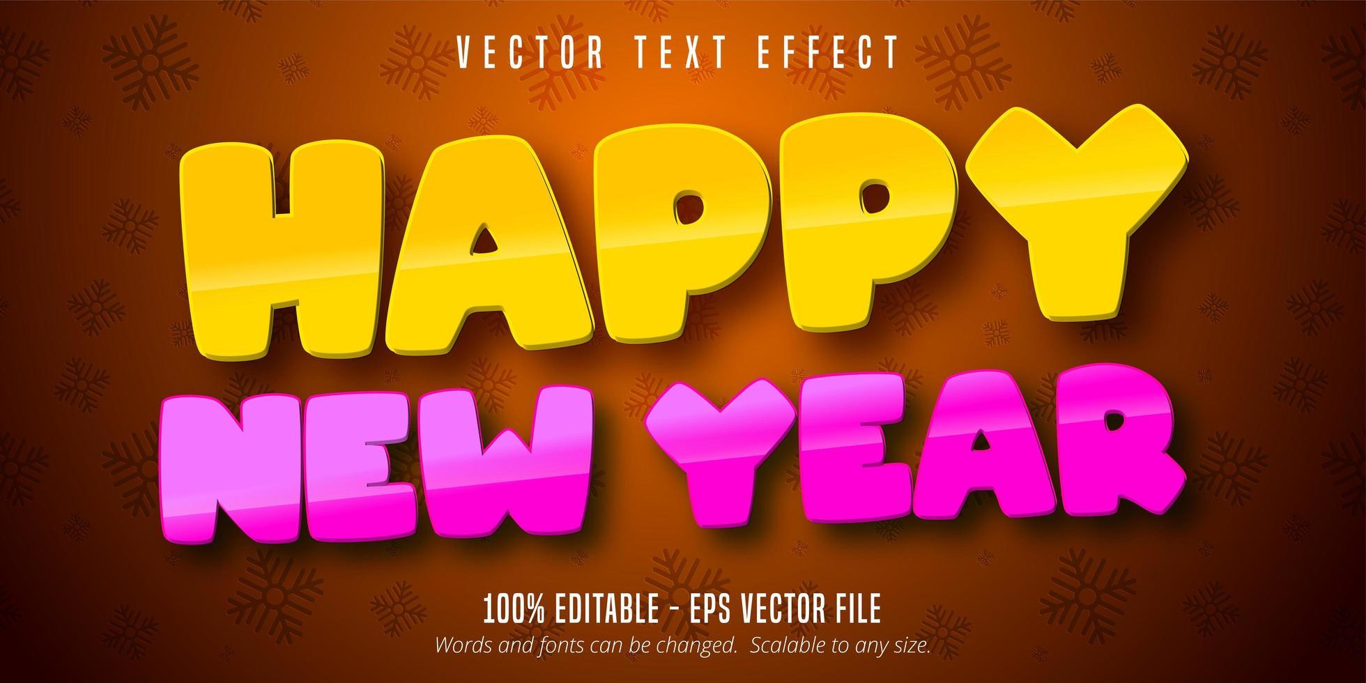 bonne année effet de texte modifiable vecteur