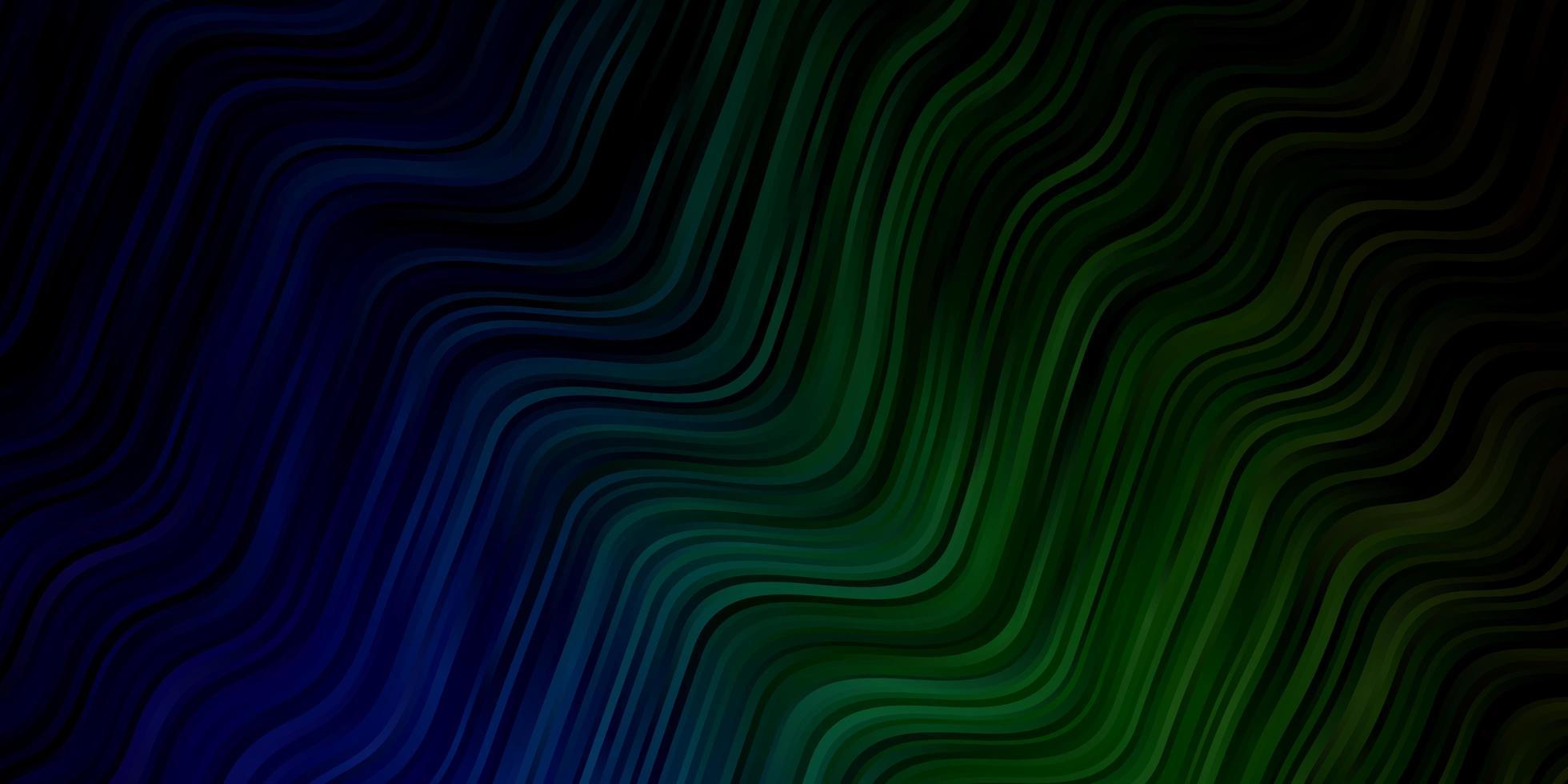 motif bleu et vert avec des lignes ironiques. vecteur
