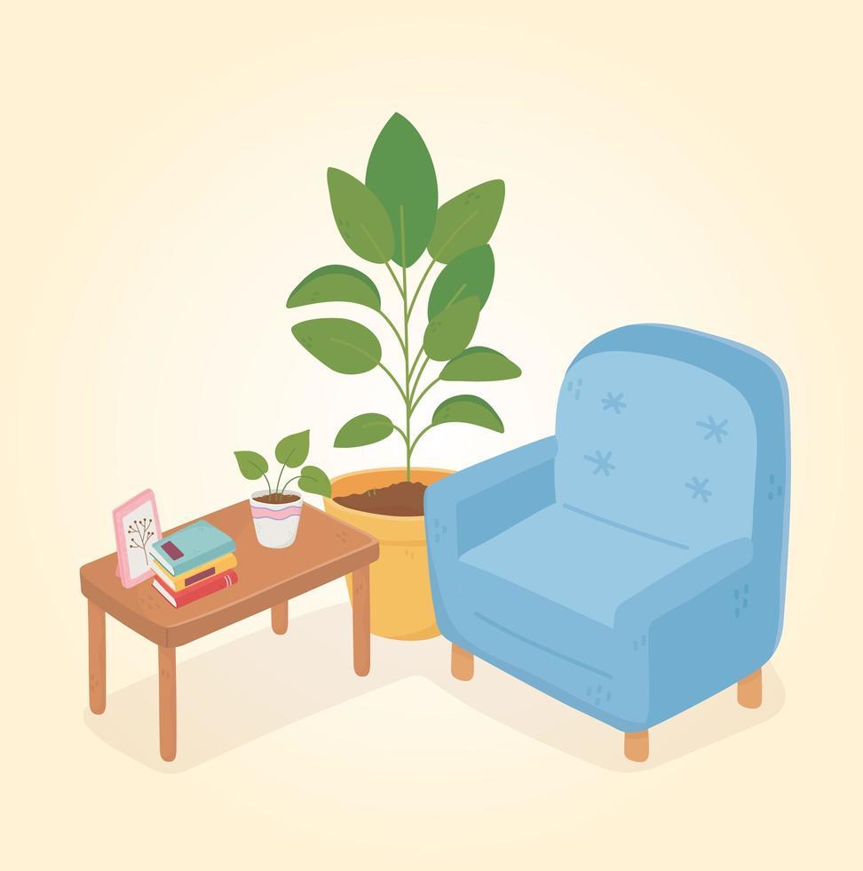 intérieur et décor de la maison douce vecteur