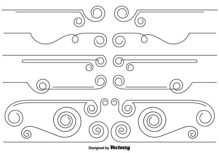 Set de Intercalaires Curly vecteur