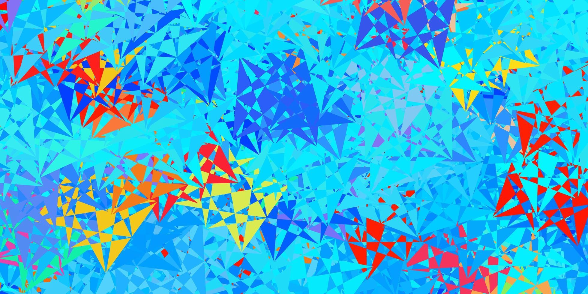mise en page multicolore avec des formes triangulaires. vecteur