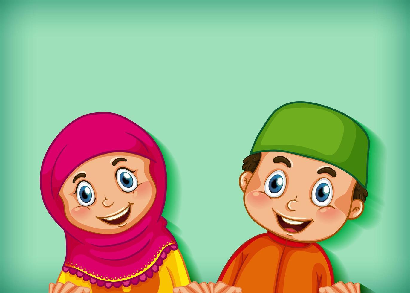heureux couple musulman vecteur