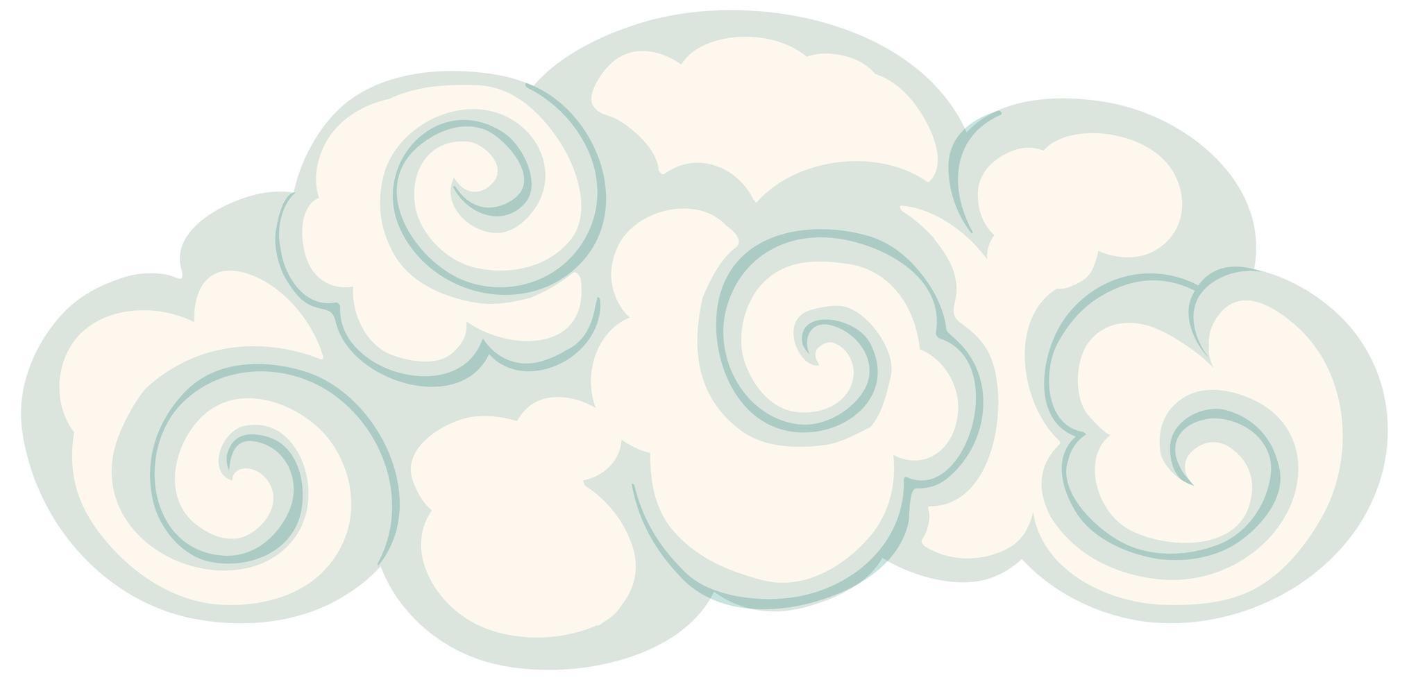 style chinois nuage isolé vecteur