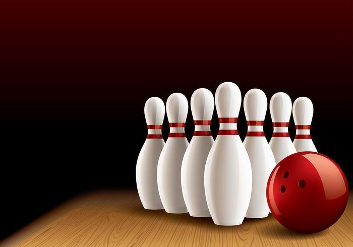 Bowling Lane Vector réaliste