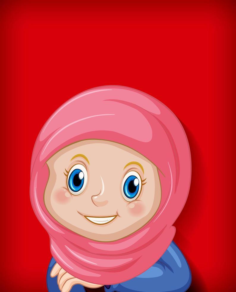 personnage de fille musulmane heureuse vecteur