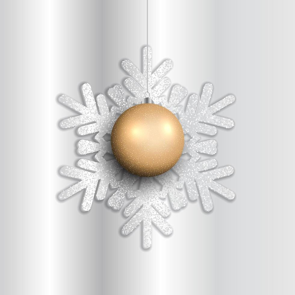 fond de boule de Noël suspendue vecteur